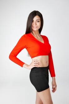 Damen Golfbekleidung, Bolero rot von GolfKleid
