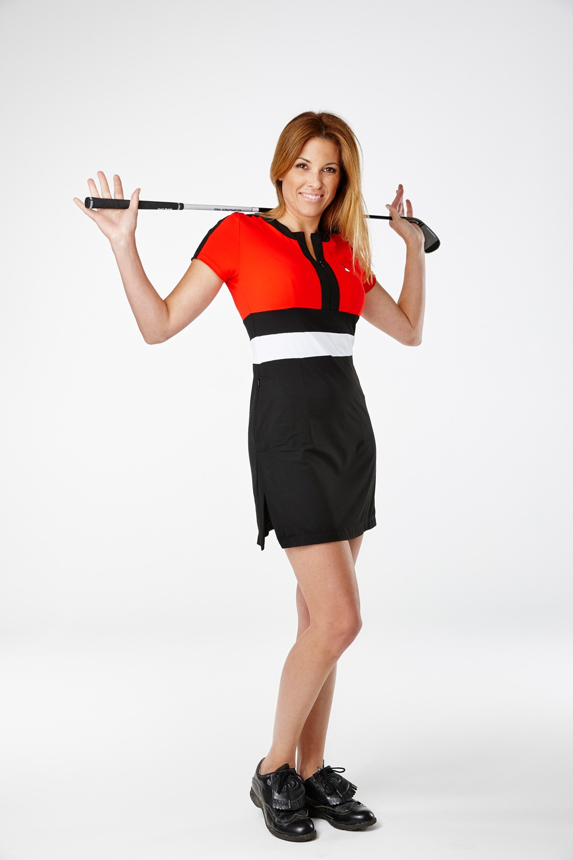 Golfkleid Buenavista rot - Exklusive Damen Golfmode