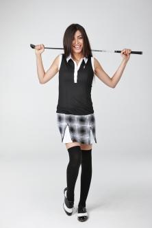 Golfbekleidung für die Frau, Golfkleid, Gleaneagles weiss