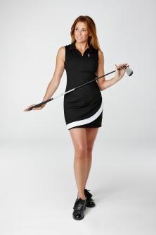 Golfkleid Magnolia schwarz, Golfmode Damen