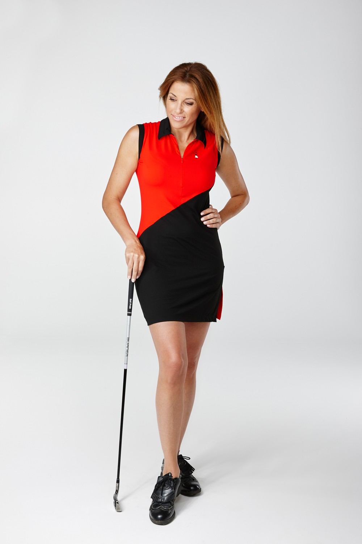 Golfkleid Abama rot - Exklusive Golfmode für die Frau
